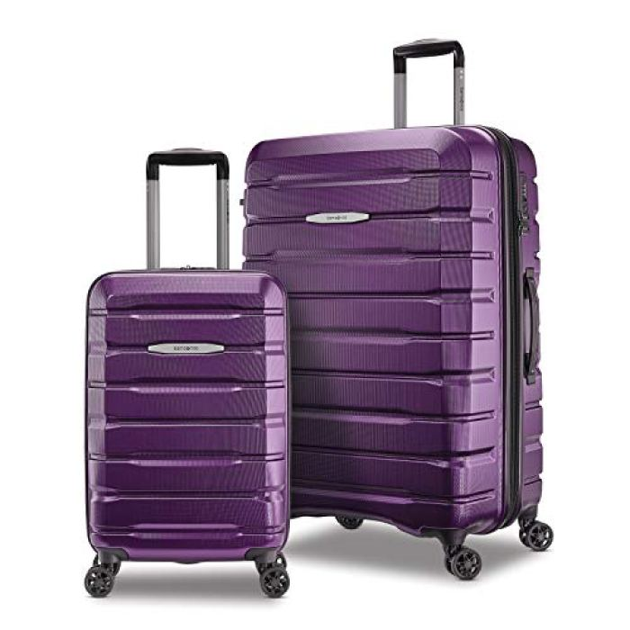 Samsonite Tech 2.0 Hardside Expandable Luggage with Spinner Wheels, Purple, 2-Piece Set (21/27)