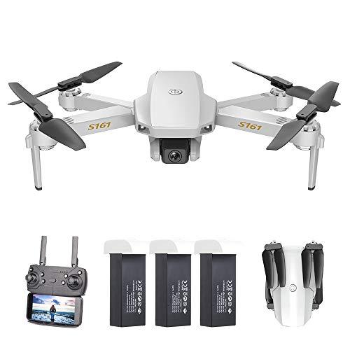 Goolsky CSJ S161 Drone Mini PRO Droni con 4K Fotocamera Flusso Ottico Posizionamento Doppia Altitudine Hold Gesto Foto Video Filp 3D Traccia Volo RC Quadcopter Borsa di stoccaggio 1/2/3 Batteria