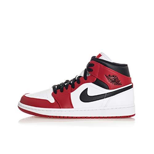NIKE Air Jordan 1 Mid, Zapatillas de básquetbol Hombre, Whi