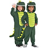 AMSCAN Zipster Dinosaur One Piece Halloween Costume for Kids, Small, with Attached Hood and Tail