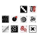 10 Pezzi Labirinto Gioco in Scatola,Equilibrio Labirinto Gioco di Puzzle Scatole,IQ Rompicapo 3D Puzzle Classici Brain Teaser,Giochi educativi per bambini Gioco IQ Adult Cube Cognitive Puzzle Box
