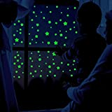 Glow in The Dark Stars for Ceiling,CeilingStarStickers for Kids Room, Wall Decals, DIY Glowing Wall Stickers for Bedroom, Party and Home Decoration, 459 pcs