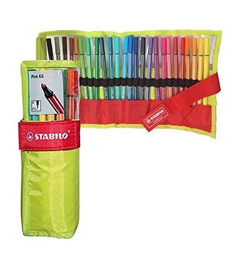 Pennarello Premium - STABILO Pen 68 - Rollerset con 25 Colori assortiti