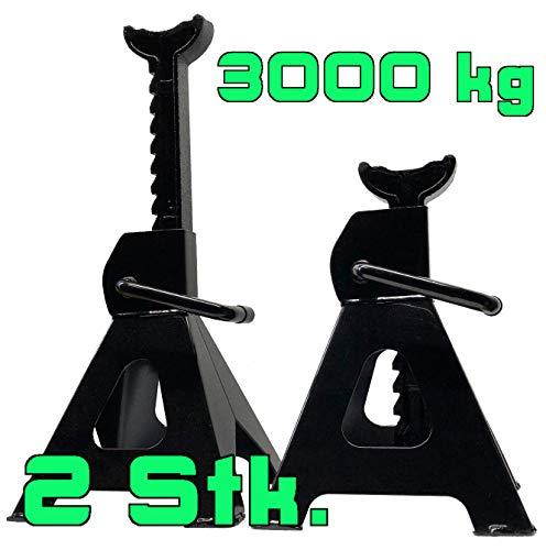 DeTec. Unterstellböcke 3000 kg für PKW Unterstellbock 3t in schwarz Sicherheitsböcke Stützen