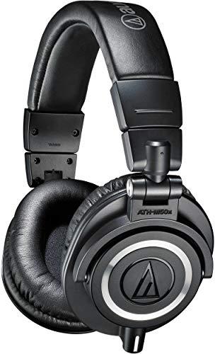 audio-technica オーディオテクニカ プロフェッショナルモニターヘッドホン ATH-M50x ブラック スタジオレコーディング / ミキシング / DJ /トラックメイキング Nakajin(SEKAI NO OWARI)の愛用ヘッドフォンは「audio-technica ATH-M50X」【徹底解説】音楽のプロが使用するヘッドフォン特集!ミュージシャン、作曲家、エンジニアが使用するDTMや作曲・編曲にオススメのヘッドフォン・イヤホンの紹介!