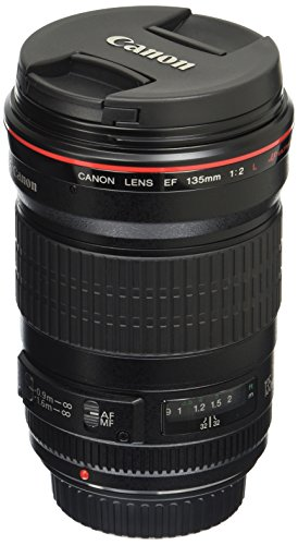 Canon EF 135mm f/2L USM Lens for Canon SLR Cameras - Fixed, Black...