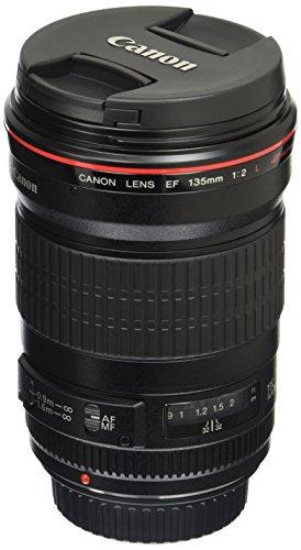 Canon EF 135mm f/2L USM Lens for Canon SLR Cameras - Fixed, Black...