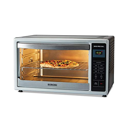 Borosil DIGIPRO 38L, Digital OTG,with Motorised Rotisserie and Convection, 1500W, 4 Stage Heat...