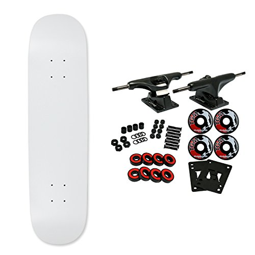 Moose Complete Skateboard Dipped White 7.0' Black/Black