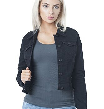 Hollywood Star Fashion: Damen-Jeansjacke Schwarz