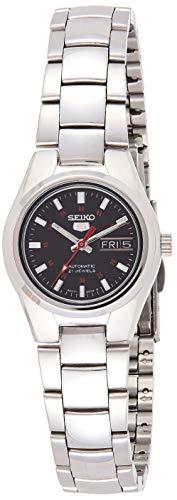 Seiko Women's SYMC27 Seiko 5 Automatic Black Dial Stainless Steel Watch