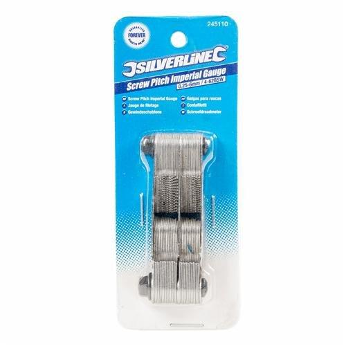 Silverline 245110, Calibro combinato, per filettatura Whitworth e metrica 0,25 6 mm / 4 62 BSW