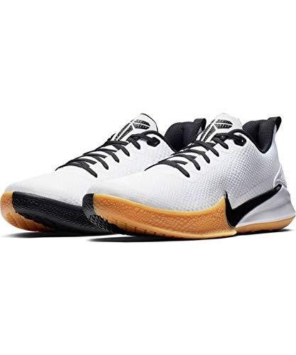 Nike Men's Kobe Mamba Focus Basketball Shoe White/Black/Gum Light Brown Size 10 M US