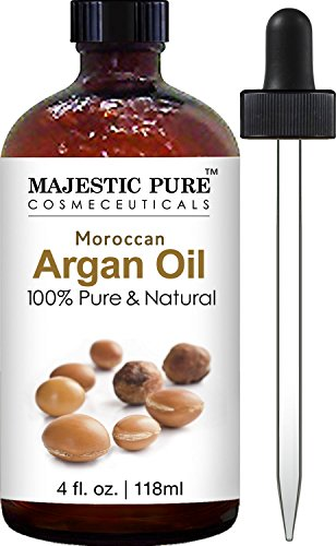 Argan Oil for Hair and Face - 100% Pure & Natural Organic Argan Oil - Certified, Cold Pressed Triple Extra Virgin Grade 1 Moroccan Oil, Extracted From Finest Organic Argan Nuts - Rich in Vitamin E and Natural Fatty Acids, Absorbs Quickly and Greatly Be .. by Majestic Pure