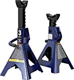 TCE AT43202U Torin Steel Jack Stands: 3 Ton (6,000 lb) Capacity, Blue, 1 Pair
