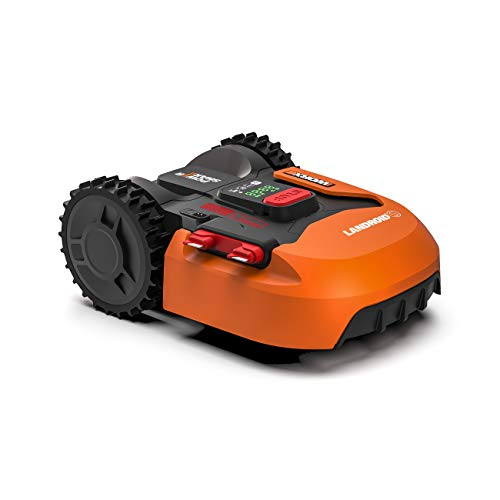 Worx Landroid S WR130E Mähroboter / Akkurasenmäher für kleine Gärten bis 300 qm / Selbstfahrender Rasenmäher für einen sauberen Rasenschnitt