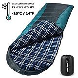 Bessport Sleeping Bag Winter | 14℉/-10℃ Extreme 3-4 Season Warm & Cool Weather Adult Sleeping Bags Large |...