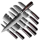 DFITO Kitchen Chef Knife Sets, 3.5-8 Inch Set Boxed Knives 440A Stainless Steel Ultra Sharp Japanese Knives with Sheaths, 8 Pieces Knife Sets for Professional Chefs