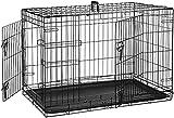 AmazonBasics Cage pliante en métal avec 2portes pour chien -...