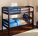 Mainstay Twin Over Twin Wood Bunk Bed, (Espresso)