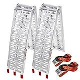 Froadp 2X Pliable Rampe de Chargement Antidérapante Aluminium Stabilité Rampe...