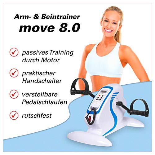 Sport-Tec Arm- und Beintrainer,Home Fitness, Pedaltrainer, Ausdauertraining, Mini Bike, Senioren, Fitnesstrainer motorgestützt mit Display