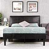 Zinus Gerard Faux Leather Upholstered Platform Bed Frame / Mattress Foundation / Wood Slat Support / No Box Spring Needed / Easy Assembly, California King