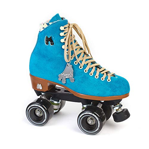Moxi Skates - Lolly - Fashionable Womens Quad Roller Skate | Pool Blue | Size 7