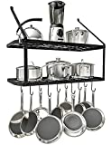 VDOMUS Shelf Pot Rack Wall Mounted...