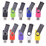 WST (Lot de 10) Clé USB 8Go Mémoire Flash USB 2.0 (9 Couleurs)