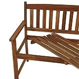 greemotion Bank Borkum akazie, 2-Sitzer aus FSC® zertifiziertem Akazienholz, robuste Gartenbank im Landhaus-Stil, witterungsbeständig und langlebig - 6