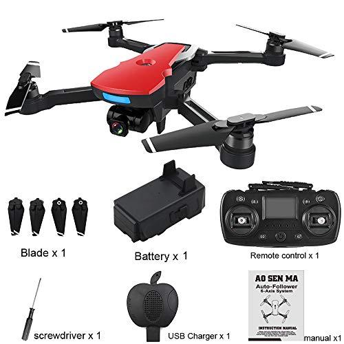 Yesmile Drone Quadcopter GPS Telecamera 2.4G FPV WiFi HD 1080P Drone Professionale GPS con Grandangolare Regolabile Camera HD WiFi FPV Quadricottero Funzione Seguimi modalit Senza Testa