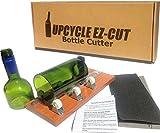 Glass Bottle Cutter Kit: Beer & Wine Bottle Cutter Tool to Make Glasses + Edge Sanding Paper