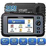 TOPDON OBD2 Diagnosegerät für alle Fahrzeuge-ArtiDiag 600, für Motor/SRS/ABS/Getriebeöl/EPB/SAS/TPMS/Drosselklappe regulieren, AutoVIN, kostenloses Software-Update, Android 7.0 2021