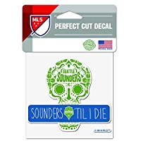 """Officially Licensed Product of the MLS 4""""x4"""" Perfect Cut Decal Vibrant Team Colors"""