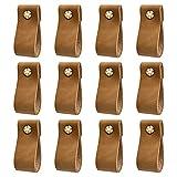 DOXILA - poignées en cuir pour meubles - 12 pièces - 6 * 2,5 cm poignées...