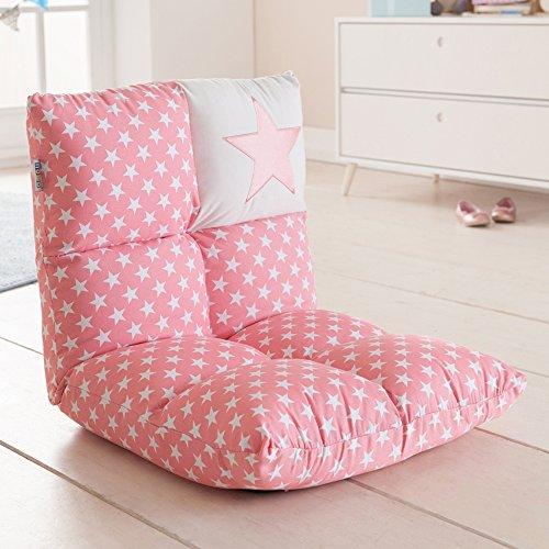 howa 2 in 1 poltrona + divano per bambini schienale regolabile in 6 posizioni - rosa 8601