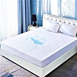 DOWNCOOL Queen Mattress Protector Cover, Ultra Soft Breathable Fitted Bamboo Mattress Protector