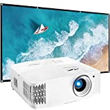 Optoma 4K UHD Home Theater & Gaming Projector UHD30 (Renewed) Bundle with Minolta 120-Inch Home Theater Projector Screen 16:9 Indoor Outdoor