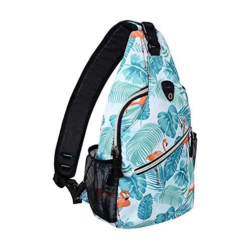 MOSISO Sling Backpack,Travel Hiking Daypack Pattern Rope...