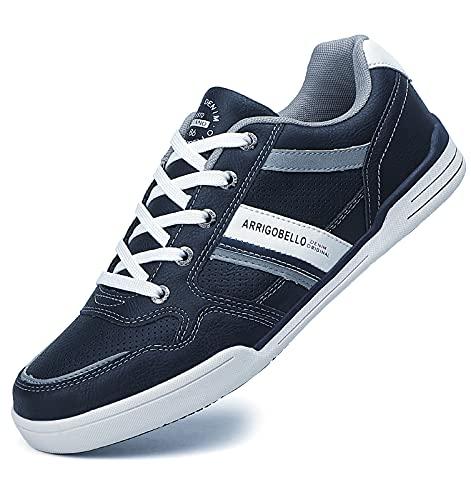TARELO Zapatillas Hombre Vestir Zapatos Casual de Cordones Sneaker Deportivo Respirable Calzado Al Aire Libre Tamaño 41-46(Azul, Numeric_43)