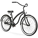 Firmstrong Bella Fashionista Single Speed Beach Cruiser Bicycle, 26-Inch, Matte Black/Black Rims