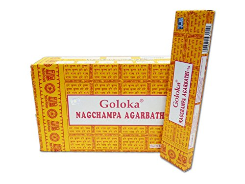 Goloka Nag Champa Räucherstäbchen, 16 Grms x 12 Schachteln