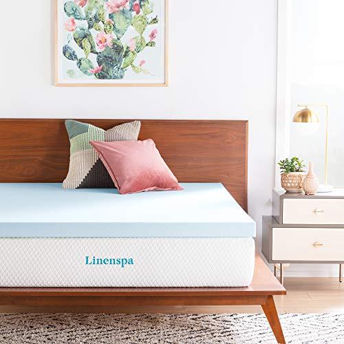 LINENSPA 3 Inch Gel Infused Memory Foam Mattress Topper - King Size