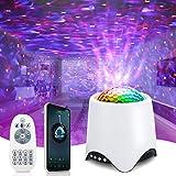 Projecteur Ciel Etoile, Veilleuse Enfant Projecteur Galaxie avec Haut-Parleur Bluetooth Lampe Projecteur LED Decoration Chambre Projecteur Étoile Rotatif...