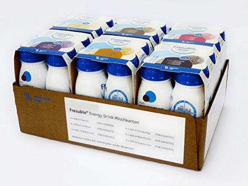 FRESUBIN Energy Drink, 300kcal pro Trinkflasche, 6 x 4 x 200ml (Mischkarton) ohne Trinkhalm