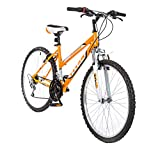 Titan Women's 18-Speed Pathfinder Front-Suspension Mountain Bike, Sunkissed Orange, 17-Inch Frame, 26-Inch Alloy Wheels
