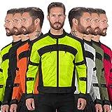 Motorcycle Jackets for Men Viking Cycle Ironside Men's Mesh Motorcycle Jacket (Hi-viz, XX-Large)