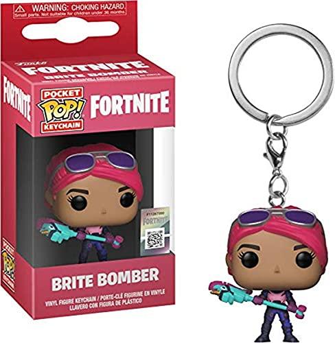 Fortnite - Funko Llavero con Anilla Brite Bomber Pocket Pop! 4cm