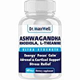 Cortisol Manager - Adrenal Support - Thyroid Support. Clinically Proven Amounts Unlike Competitors, 120 Pills. Adaptogen Stress Relief - Super Cortisol Support for Relaxation & Mood - Cortisol Blocker